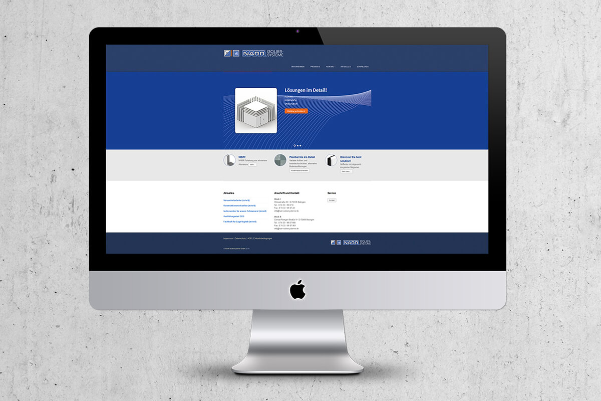 Webdesign Narr Isoliersysteme GmbH